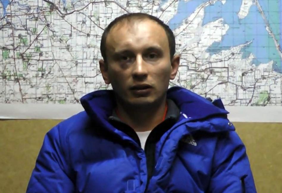 Российский военнослужащий Александр Баранов задержанный СБУ вКрыму. Кадр: СБУ