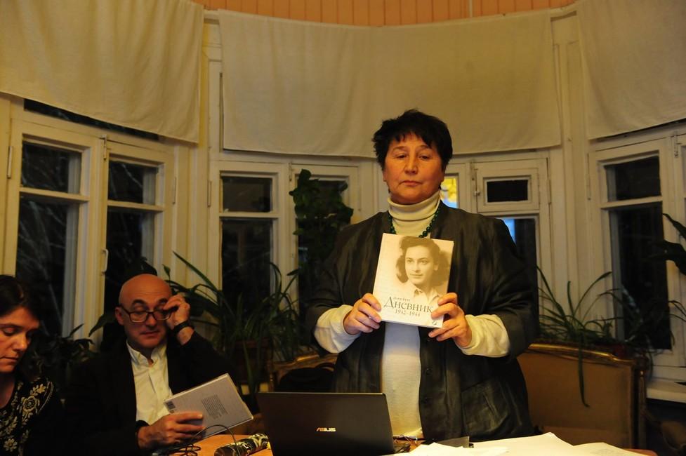 Наталья Мавлевич напрезентации книги вДоме Пастернака, 26ноября 2016года. Фото: Виктория Ивлева