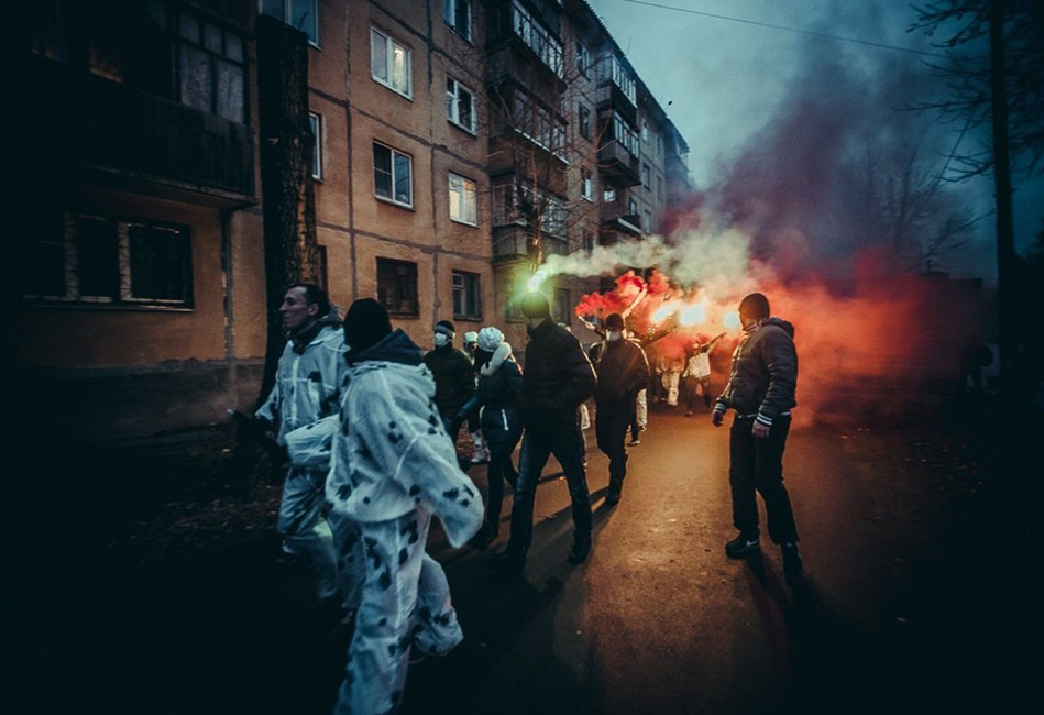 Активисты «Рубежа Севера» на«Русском марше» вСыктыкваре. Фото: Вконтакте