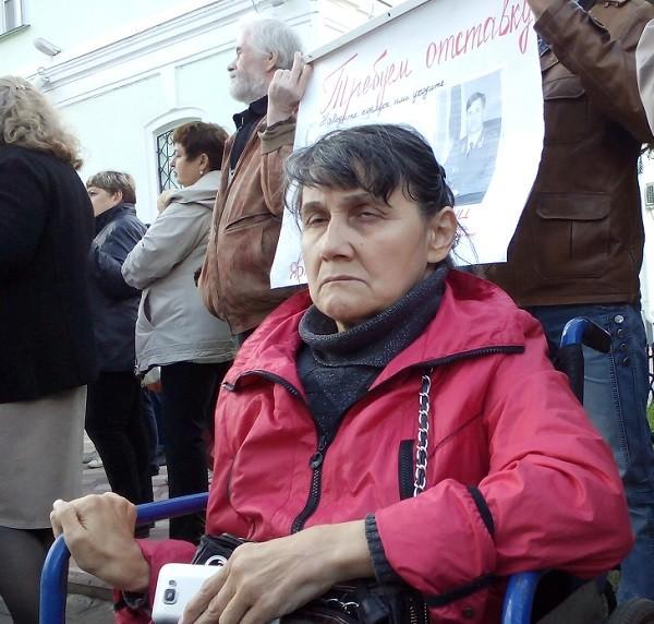 Участница голодовки— инвалид 1группы Галина Глинская