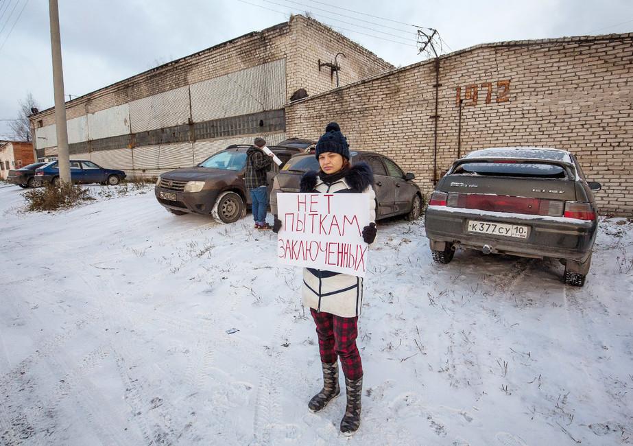 Активист устен колонии ИК-7, где содержался Ильдар Дадин. Фото: Давид Френкель/ Коммерсантъ