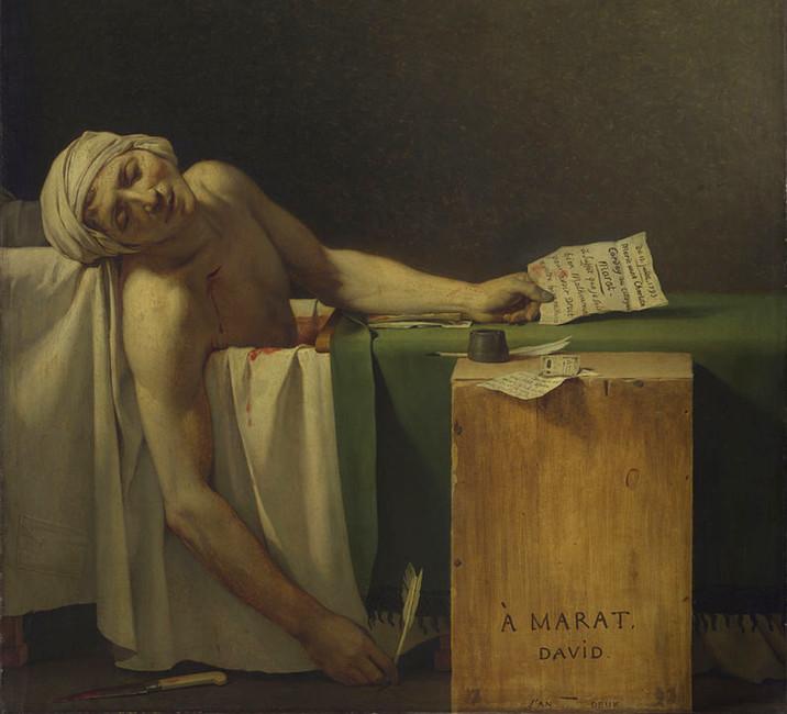 «Смерть Марата», фрагмент картины Жака Луи Давида, 1793
