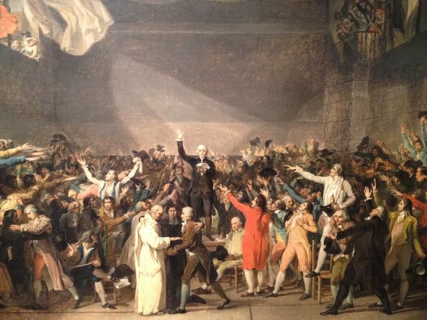 Эскиз ккартине Жак-Луи Давида «Клятва взале для игры вмяч», 1790-1794 года