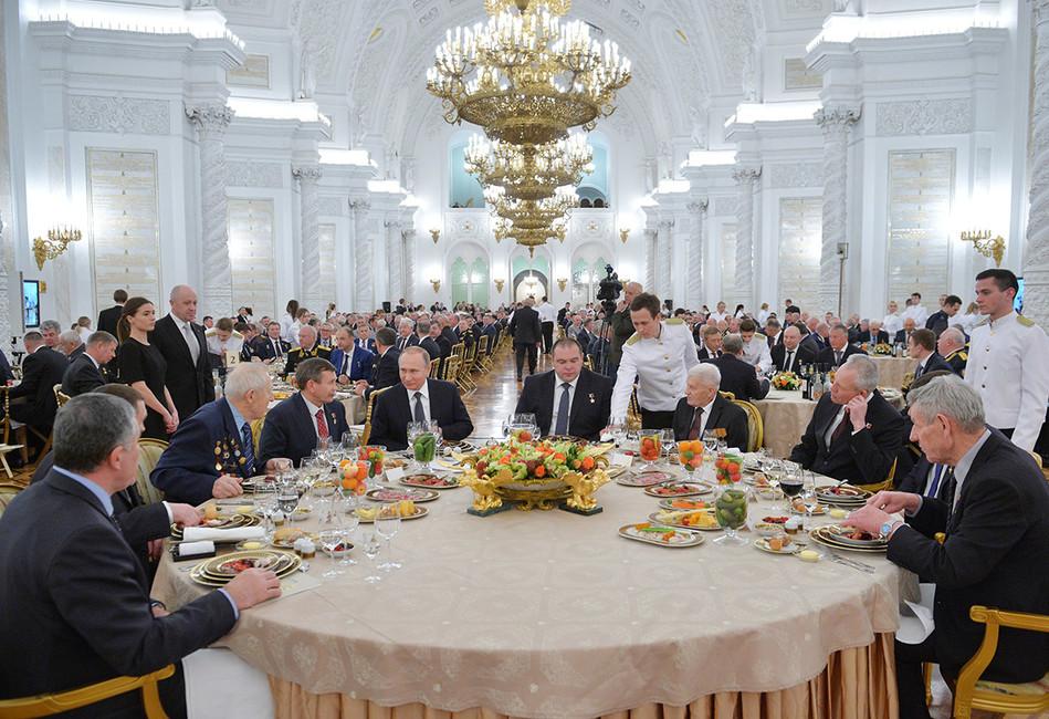 Торжественный прием послучаю празднования Дня героев Отечества вКремле. Фото: Алексей Дружинин/ ТАСС