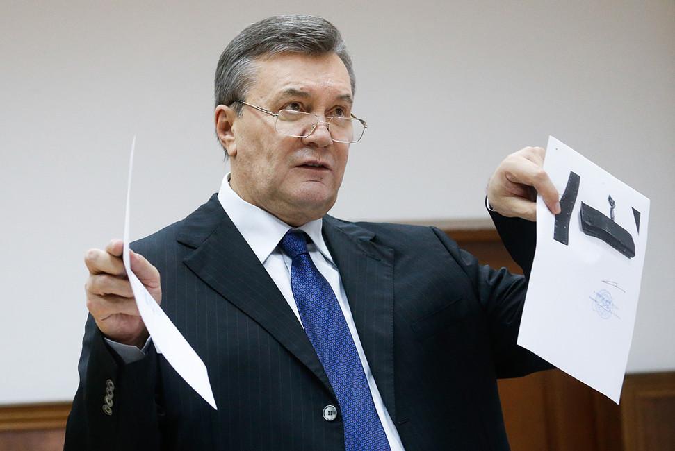 Бывший президент Украины Виктор Янукович вДорогомиловском суде. Москва, 15декабря. Фото: Станислав Красильников/ ТАСС