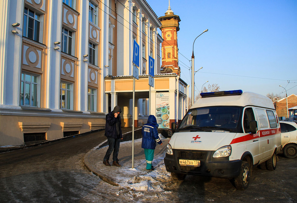 Иркутская городская клиническая больница №3, где находятся люди, отравившиеся концентратом для принятия ванн «Боярышник». Фото: Кирилл Шипицин/ ТАСС