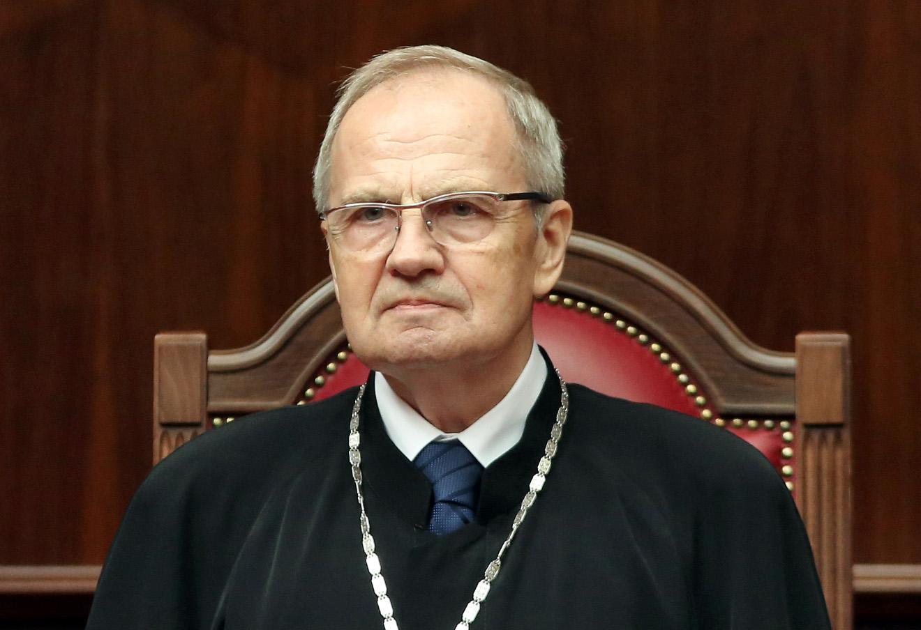 Владимир Зорькин во время заседание Конституционного суда РФ 29 июня 2015 года.
