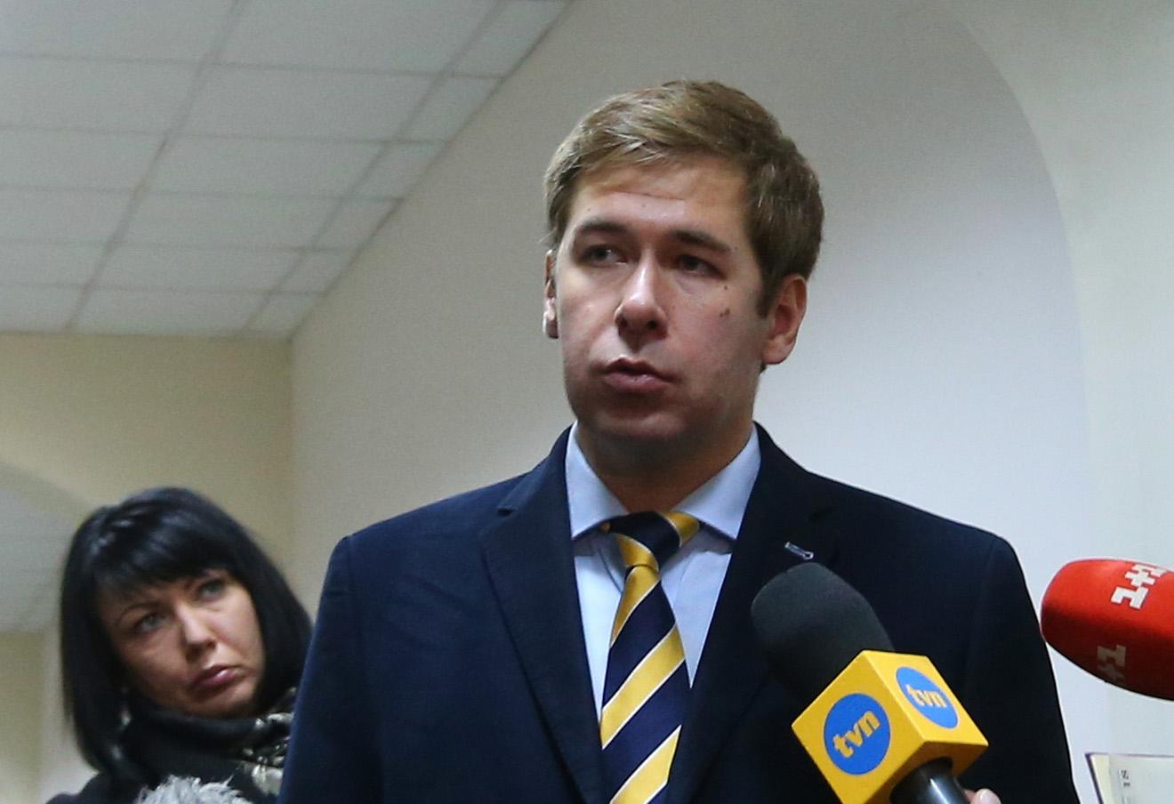 Илья Новиков в Басманном суде.