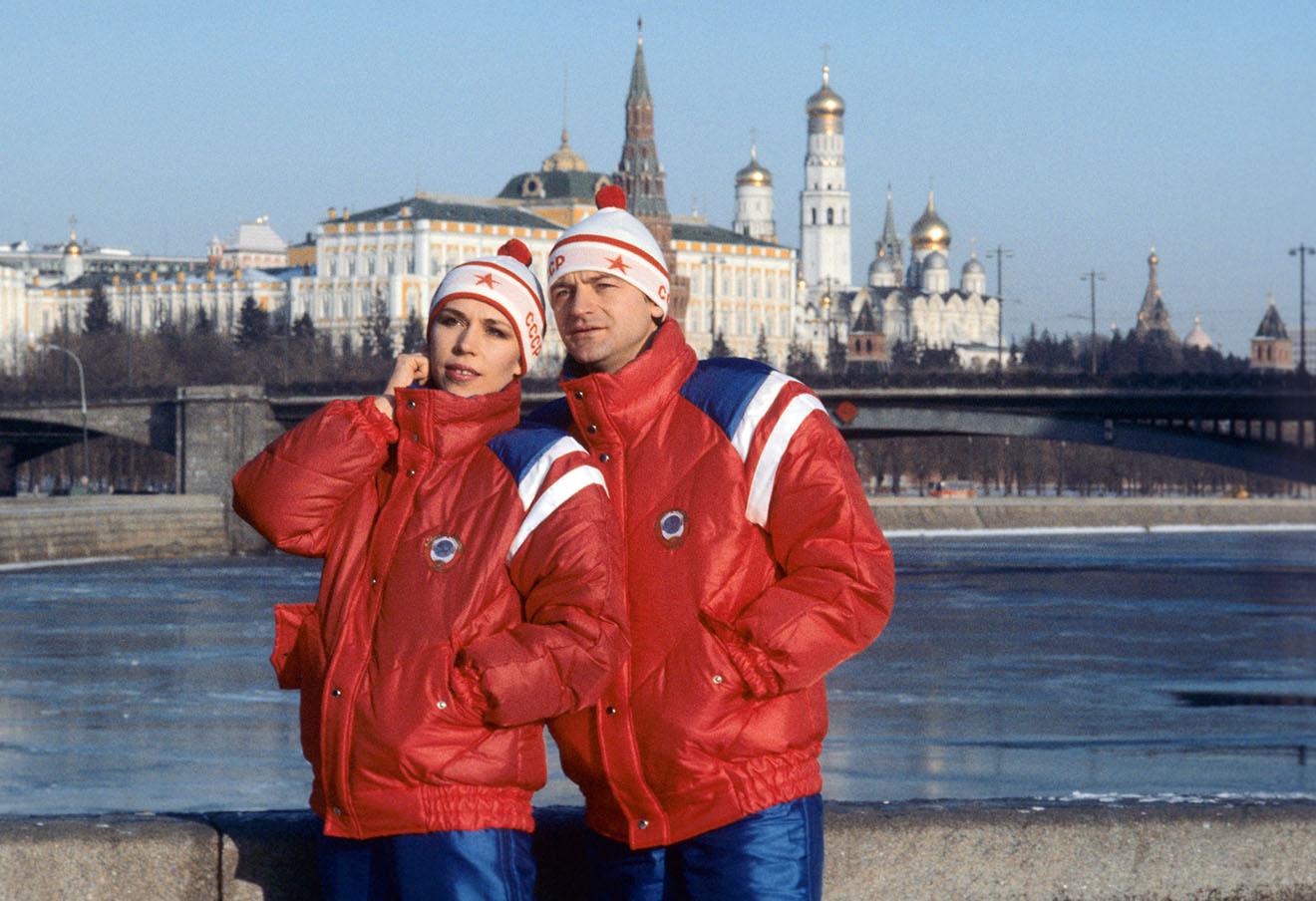 Зимние костюмы для советских олимпийцев к играм 1984 года. Фото Валерия Зуфарова и Вячеслава Ун Да-сина / Фотохроника ТАСС
