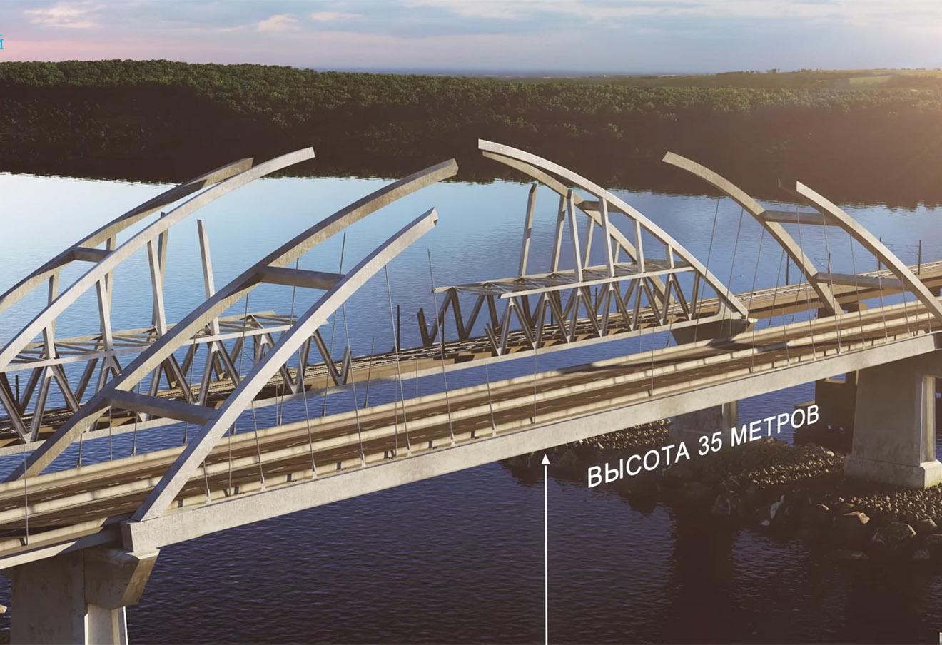 Кадр из презентации моста через Керченский пролив