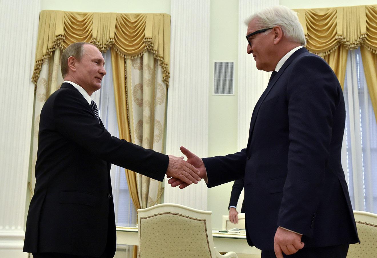 Владимир Путин и Франк-Вальтер Штайнмайер.