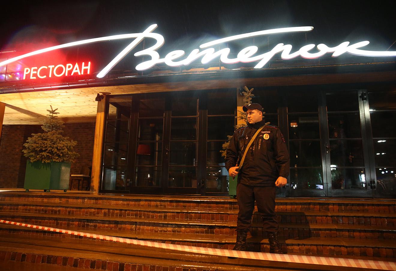 Место убийства Евгения Жилина, 19 сентября. Фото: Михаил Почуев / ТАСС