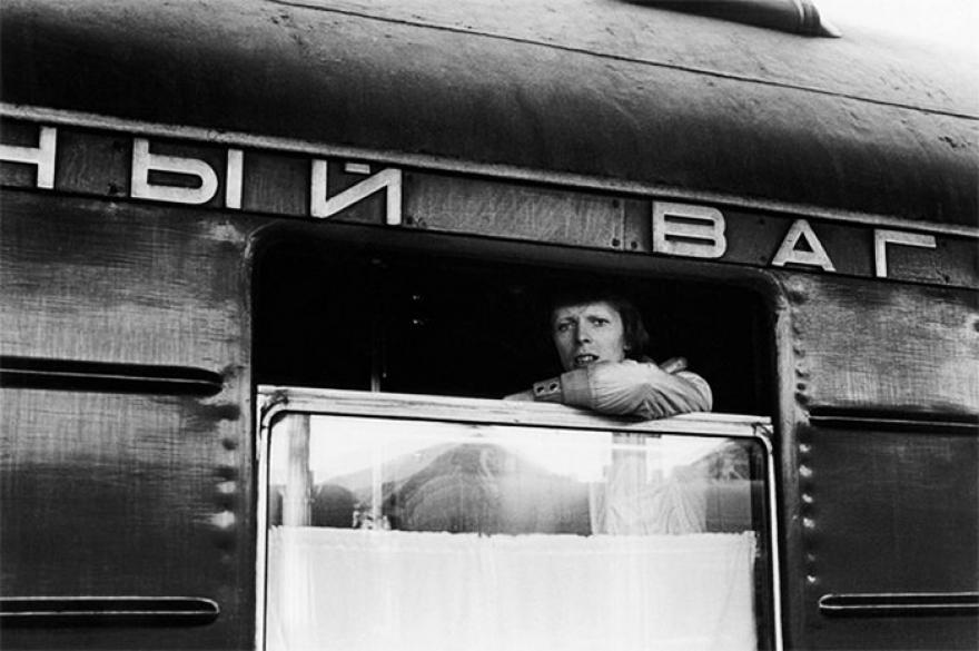 Дэвид Боуи в транссибирском экспрессе, 1973.