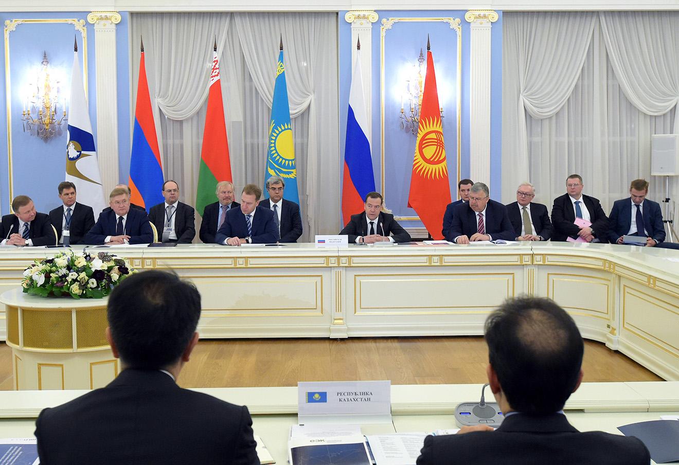 Заседании Евразийского межправительственного совета.