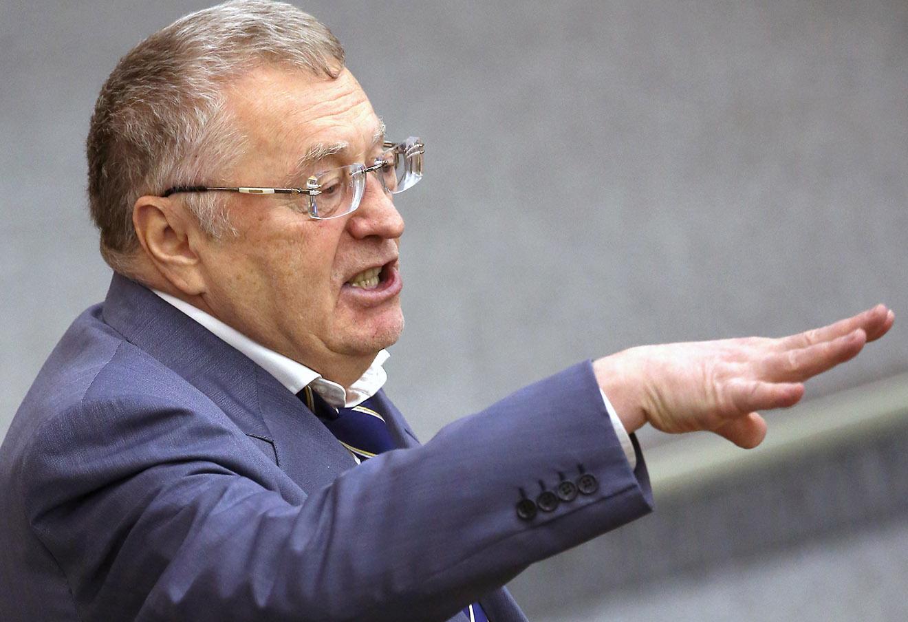 Владимир Жириновский на пленарном заседании Государственной думы РФ, декабрь 2015 года.