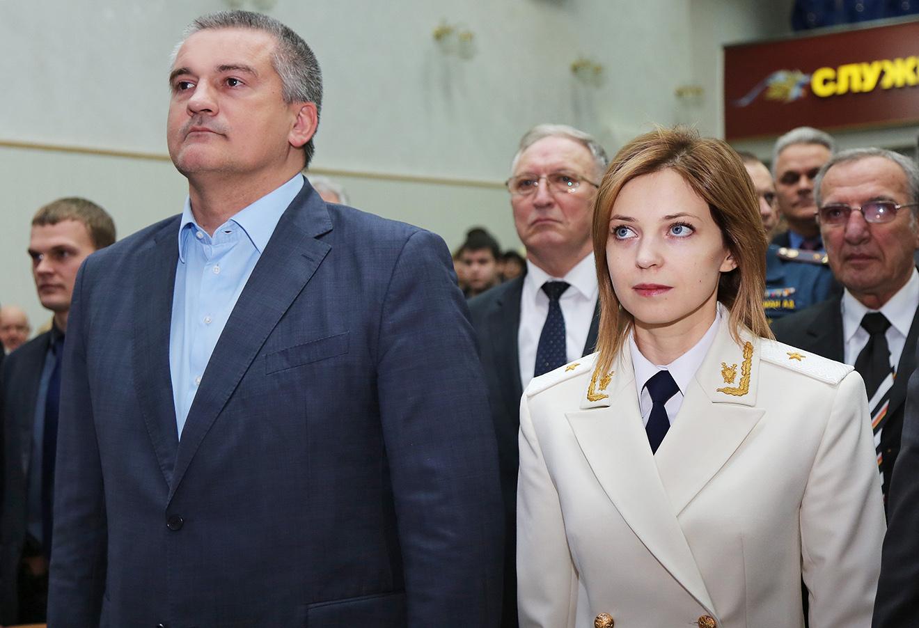 Сергей Аксенов и Наталья Поклонская. Фото: Дарья Самсонова / ТАСС