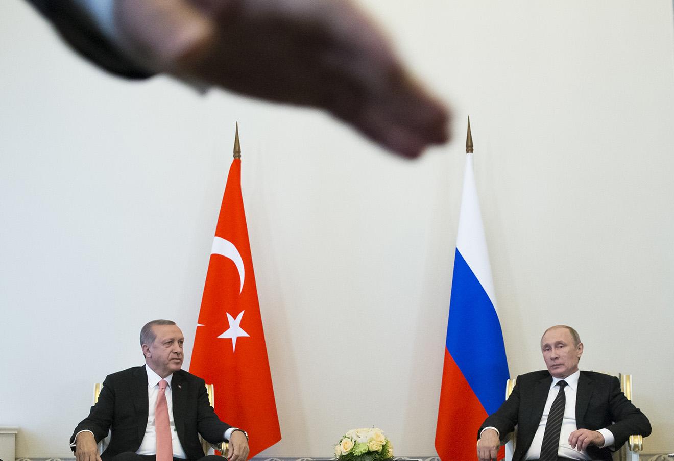 Реджеп Тайип Эрдоган и Владимир Путин, 9 августа 2016 года.