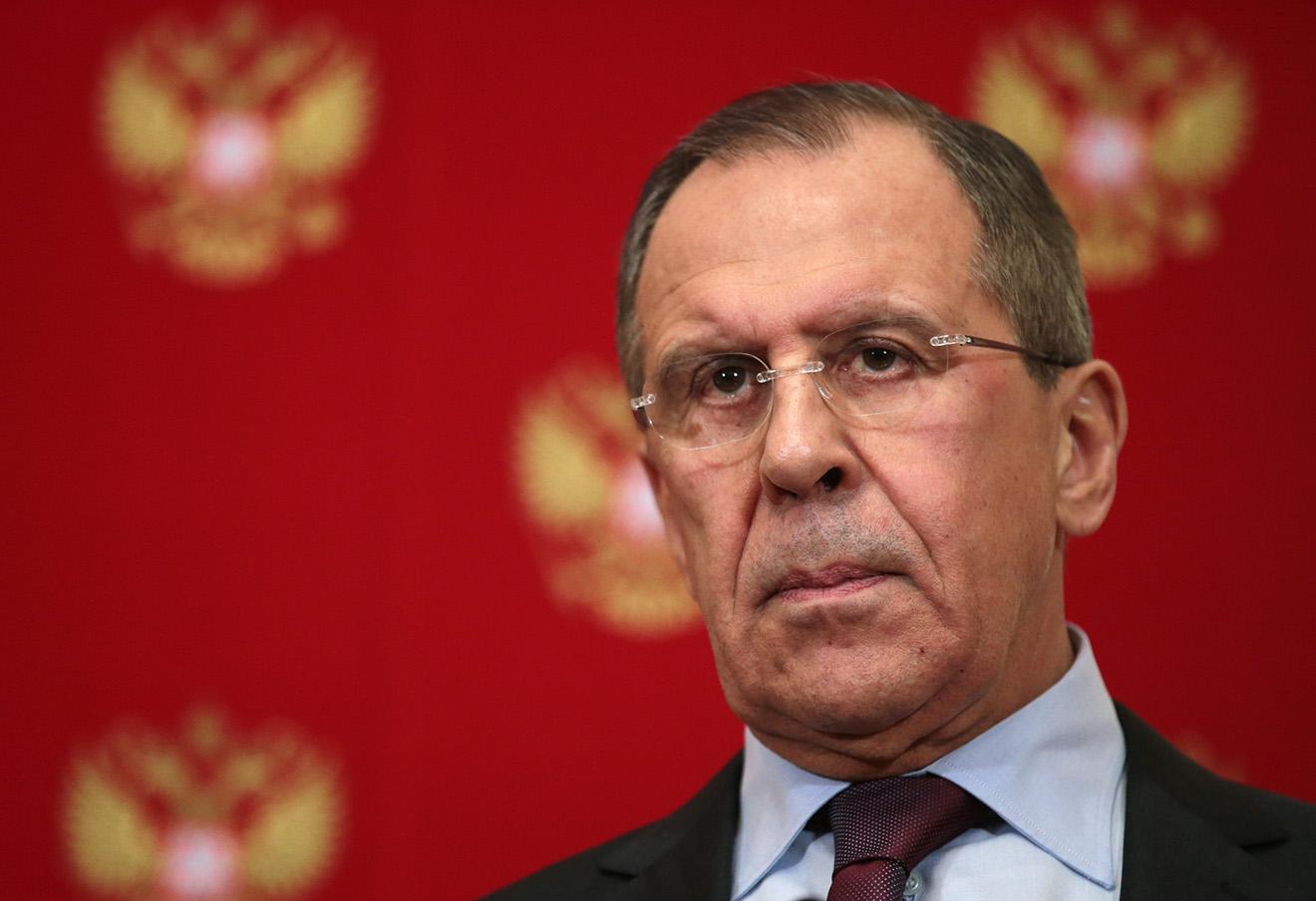 Сергей Лавров во время совместной пресс-конференции по итогам встречи с Джоном Керри.