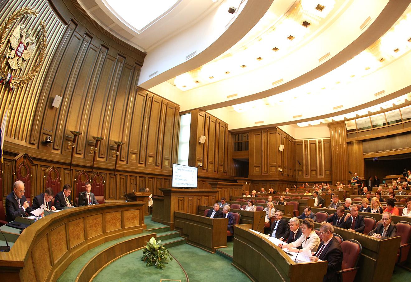 Во время заседания пленума Верховного суда РФ. Фото: Артем Коротаев / ТАСС