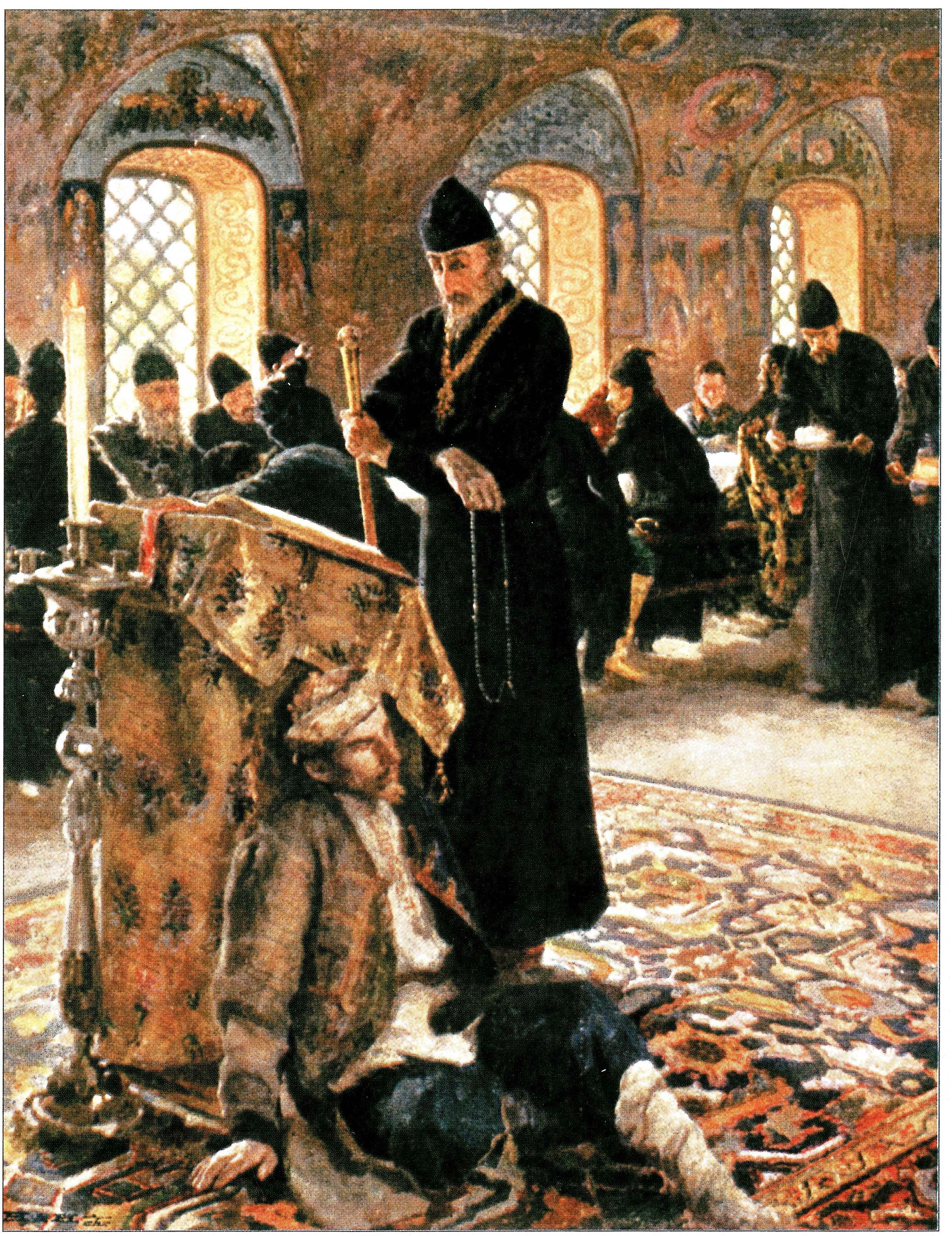 Иоанн Грозный в Александровской слободе.