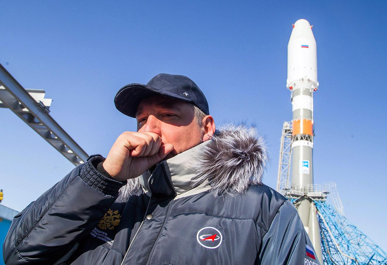 Дмитрий Рогозин на космодроме Восточный.