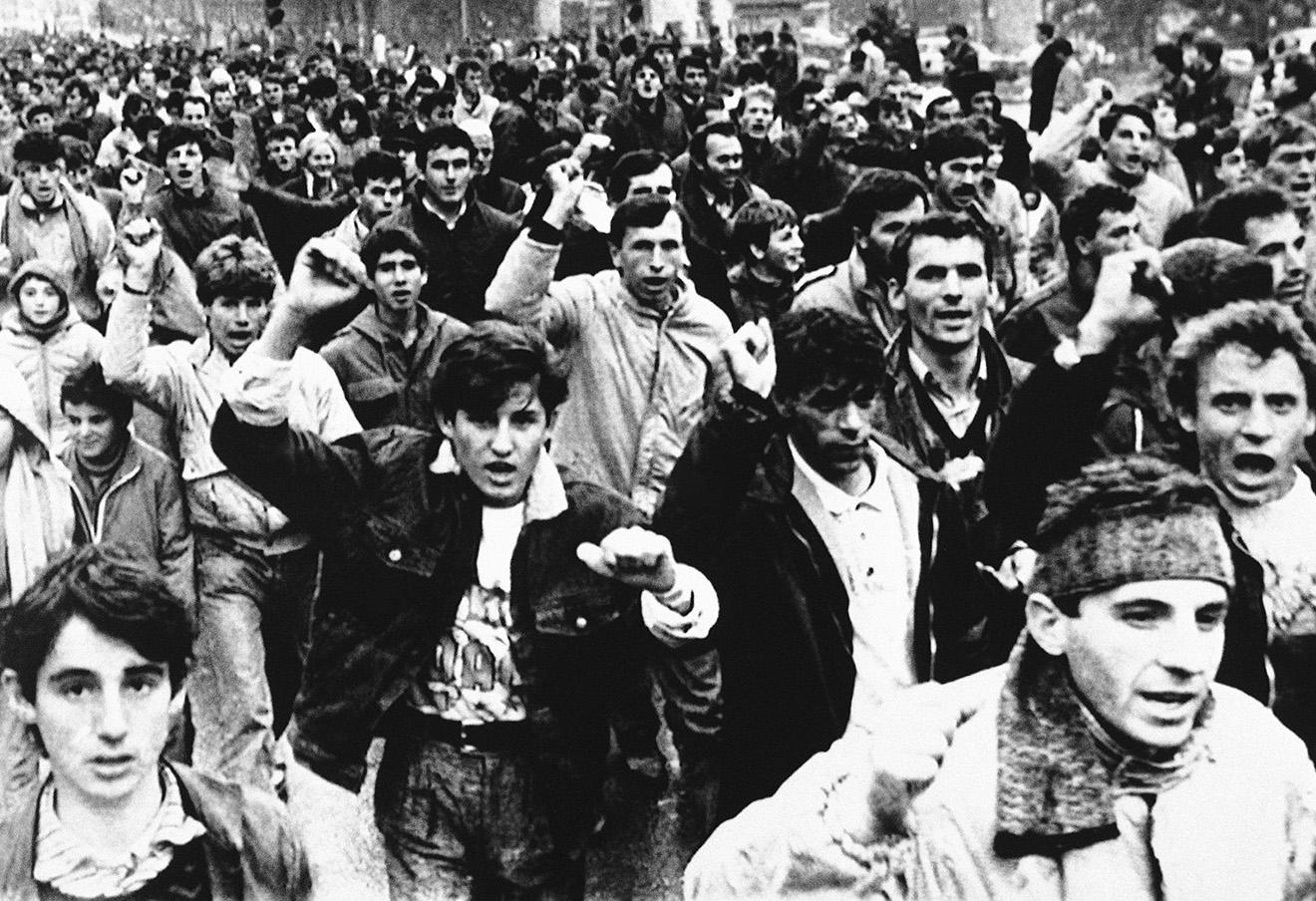 Этнические албанцы протестуют против сербского давления, 19 ноября 1988.