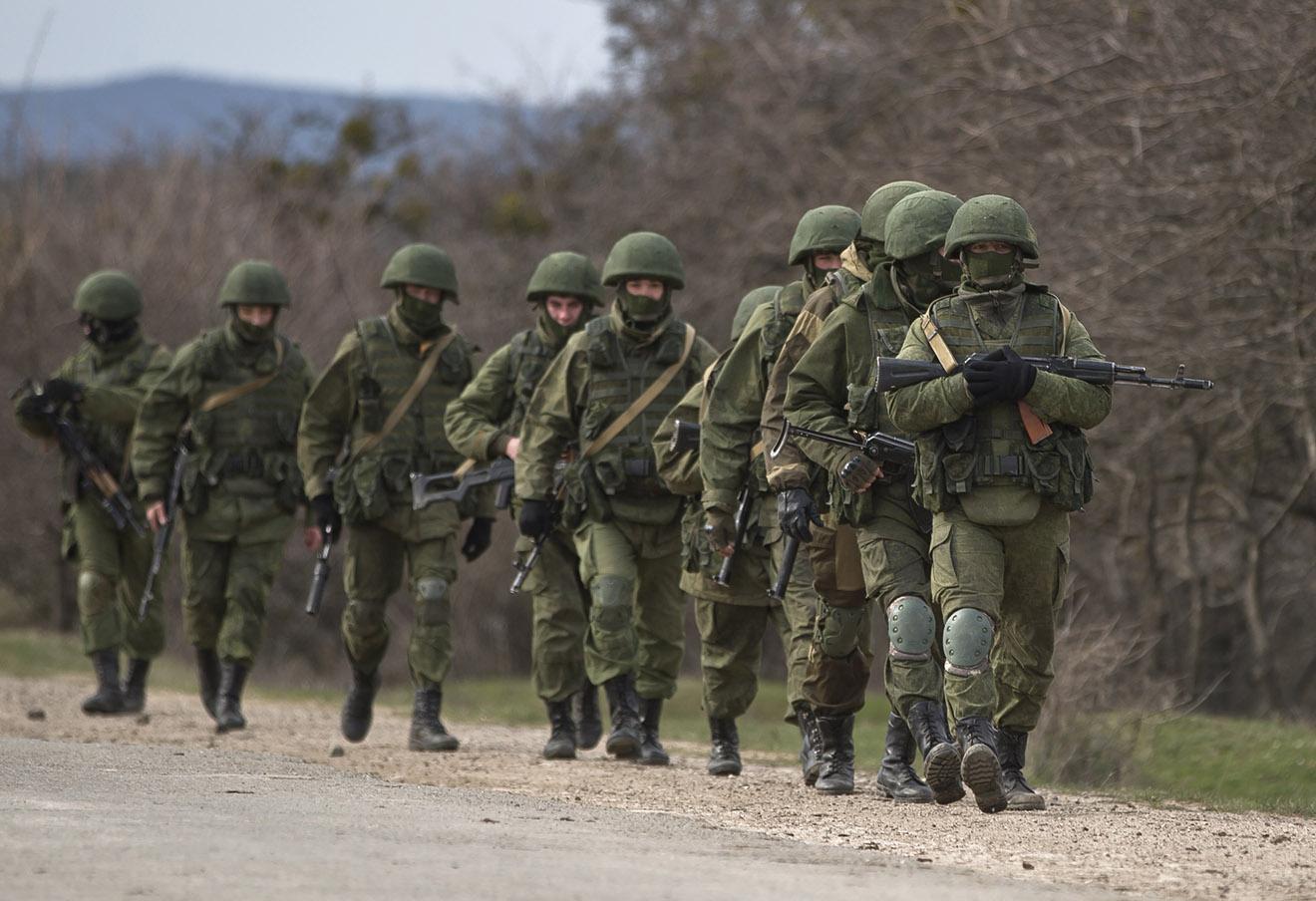 Российские военные в Крыму, март 2014 года.