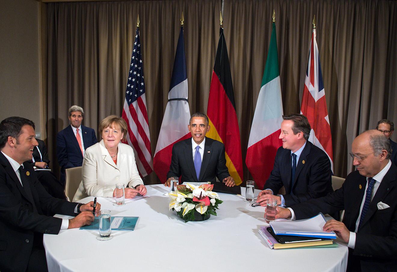 Во время саммита G20 в Турции.