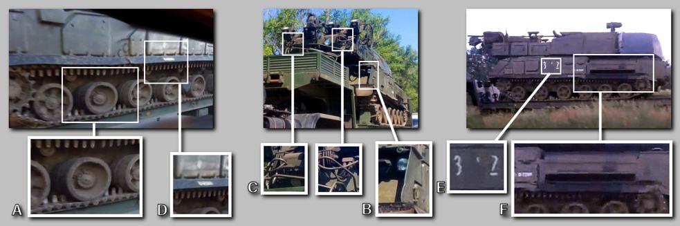 Эта средняя цифра — 3. Таким образом, до того, как средняя цифра была стерта, «Бук», сбивший MH17, носил номер 332. В ходе подготовки данного расследования члены команды Bellingcat обнаружили и проанализировали десятки фотографий различных СОУ «Бук», опубликованных военнослужащими 53-й зенитно-ракетной бригады с 2010 года.