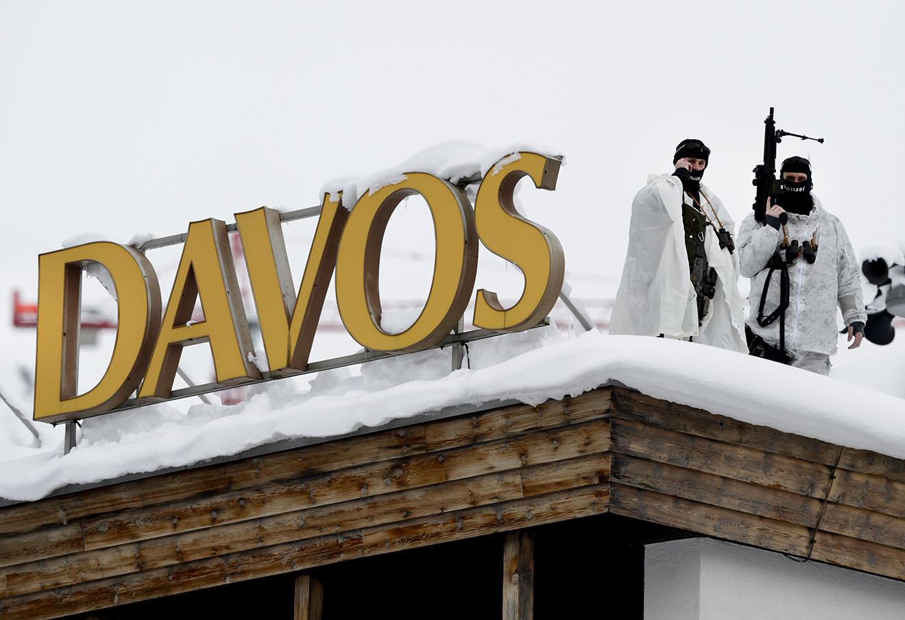 На открытии Всемирного экономического форума в Давосе.