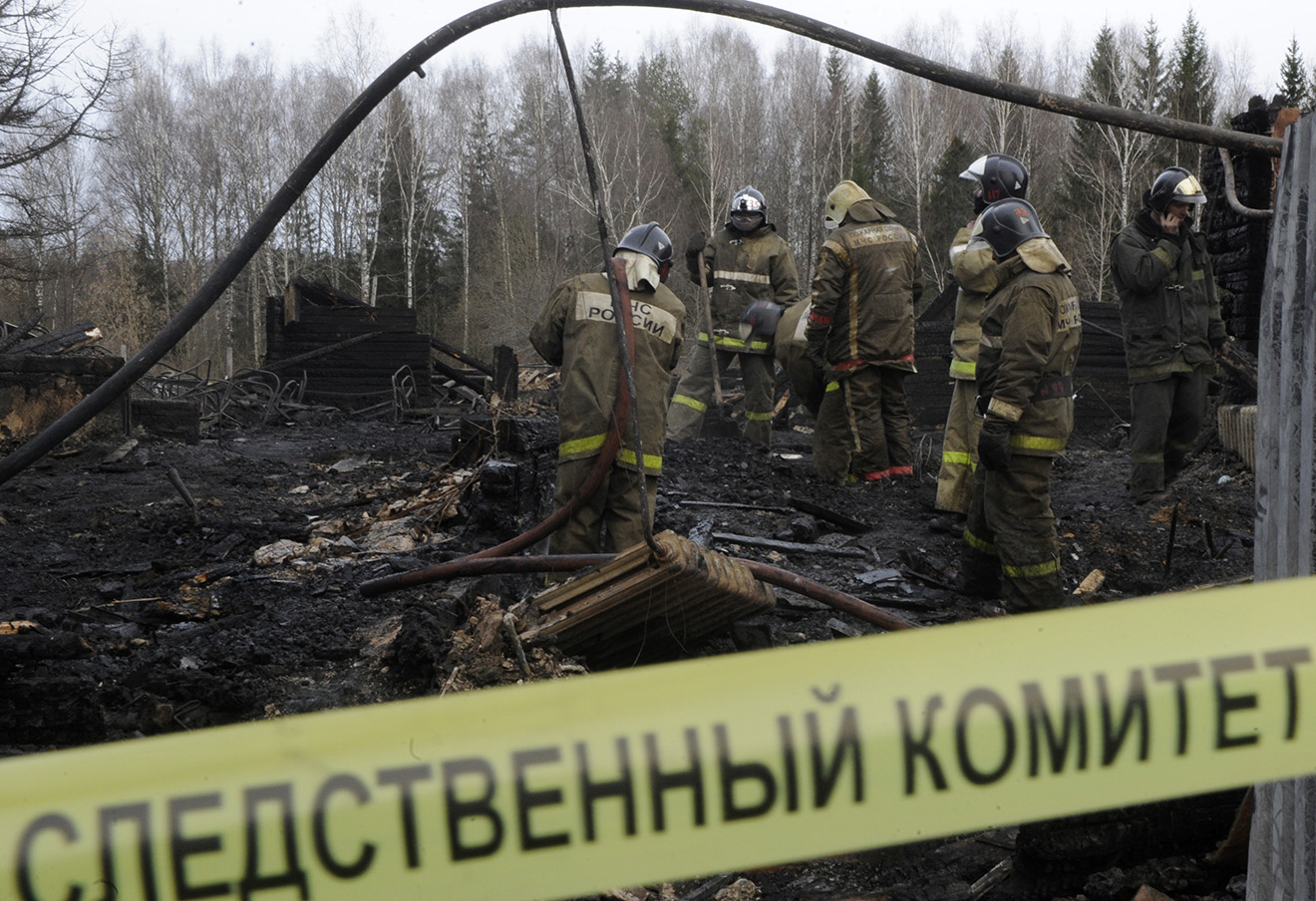 Пожар в доме престарелых в селе Подъельск Республики Коми, 31 января 2009 года.
