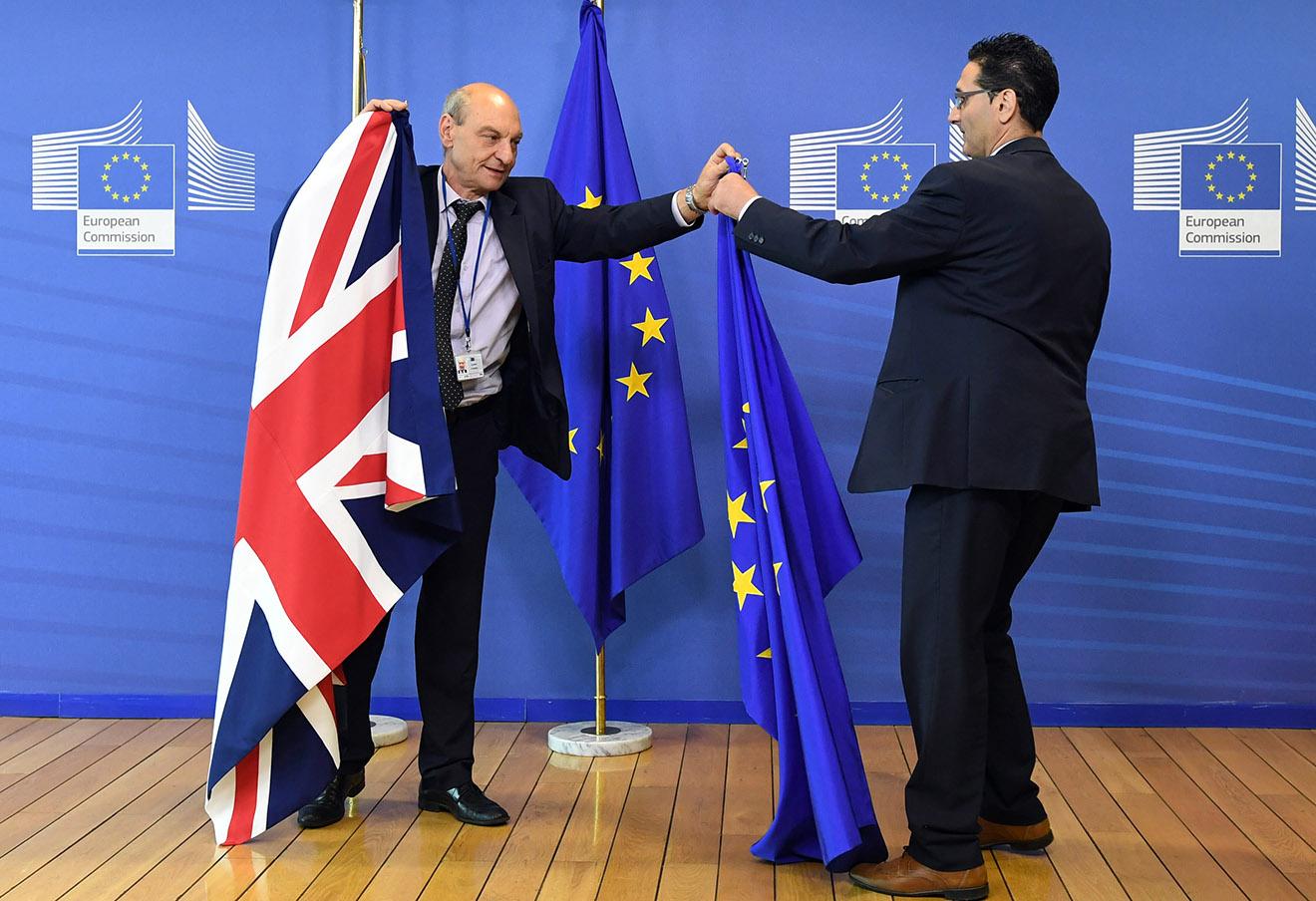 В штаб-квартире ЕС в Брюсселе перед прибытием Дэвида Кэмерона, 28 июня 2016 года.