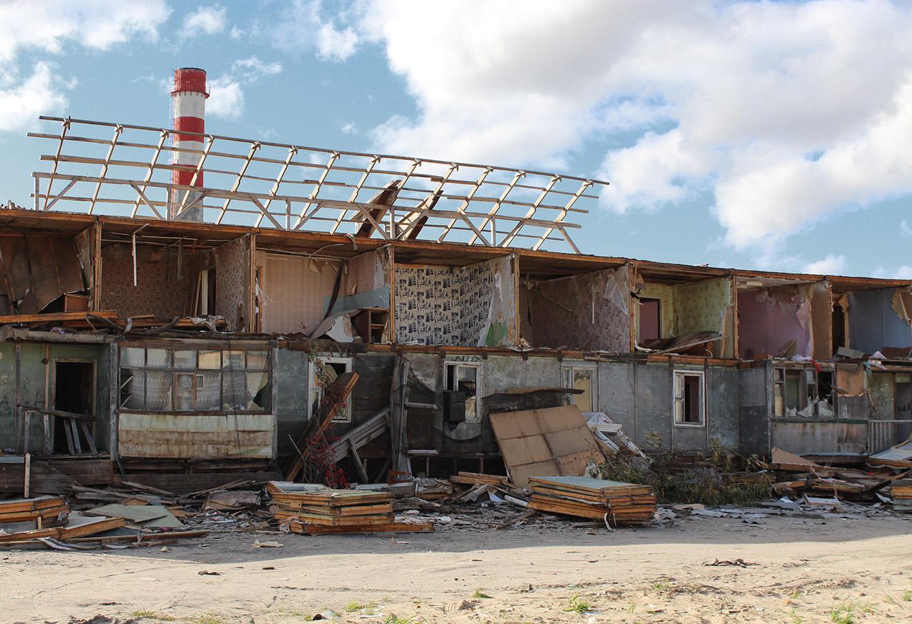 Расселенный аварийный дом. Фото: Елена Новоселова
