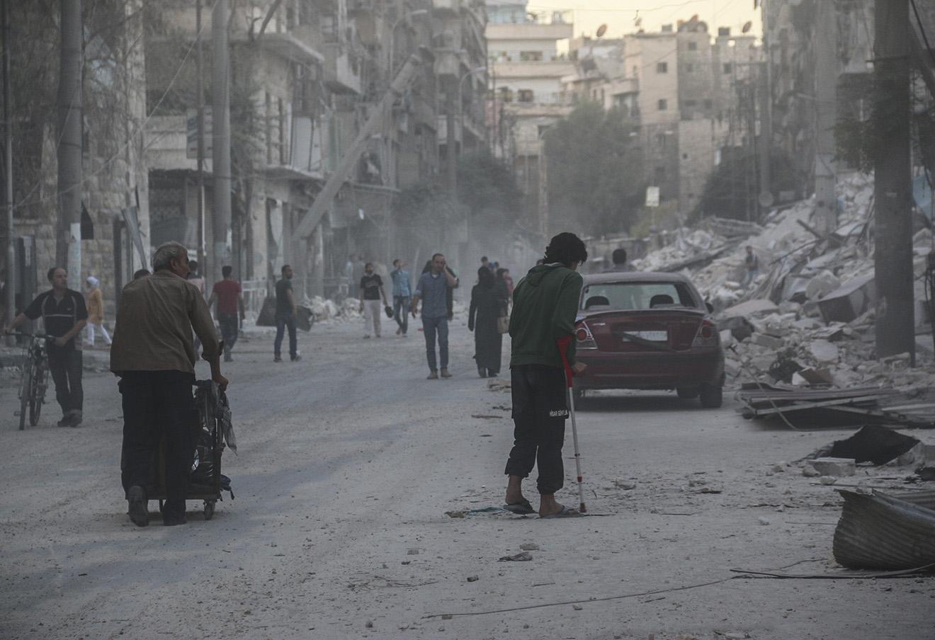Последствия боевых действий в Алеппо. Фото: Basem Ayoubi / ТАСС