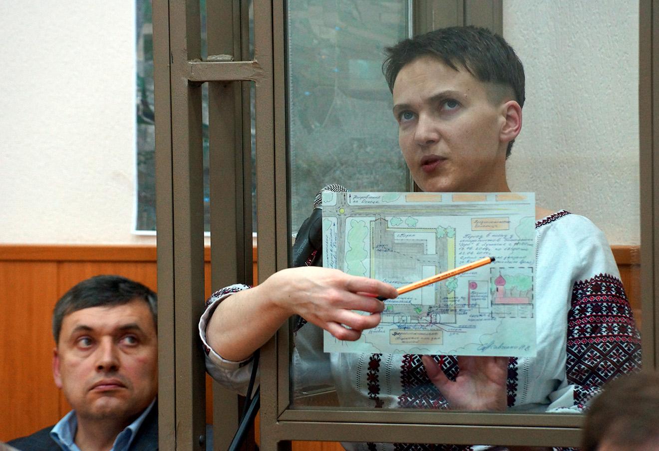 Допрос Надежды Савченко.