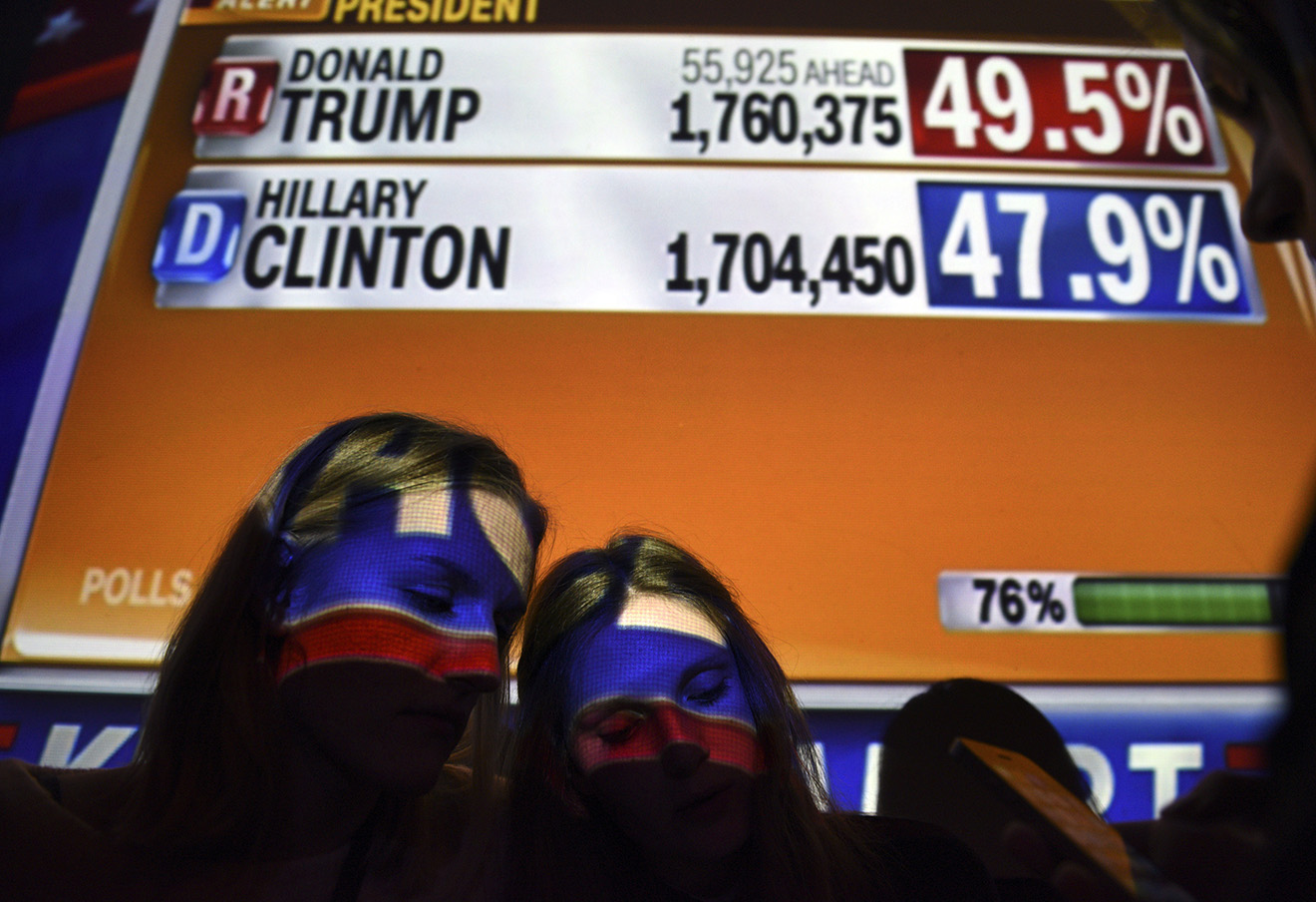 Результаты президентских выборов в США. Фото: Carol Guzy / ТАСС