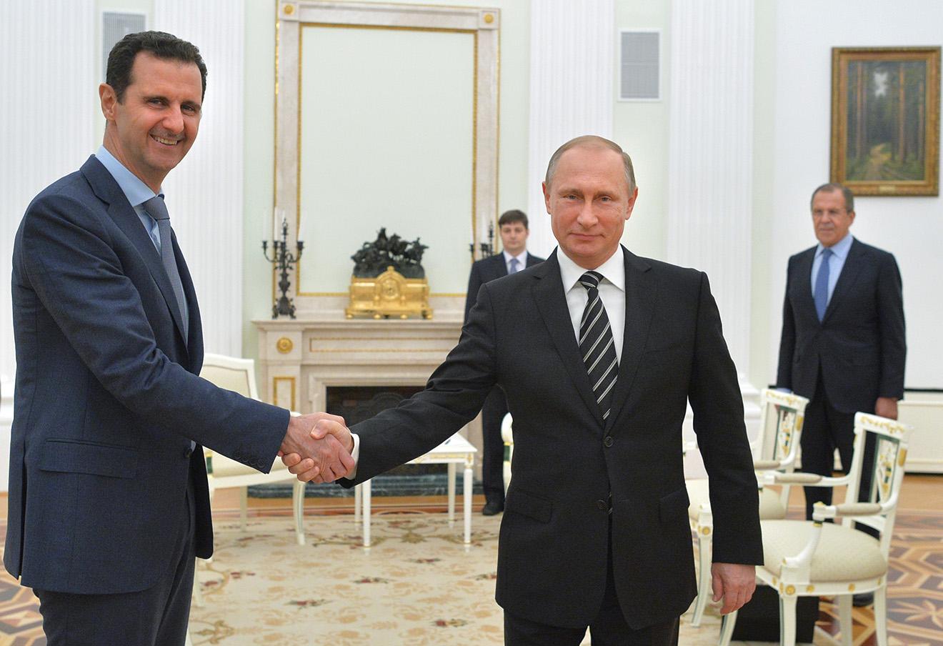 Башар Асад и Владимир Путин. Фото: Алексей Дружинин / AP