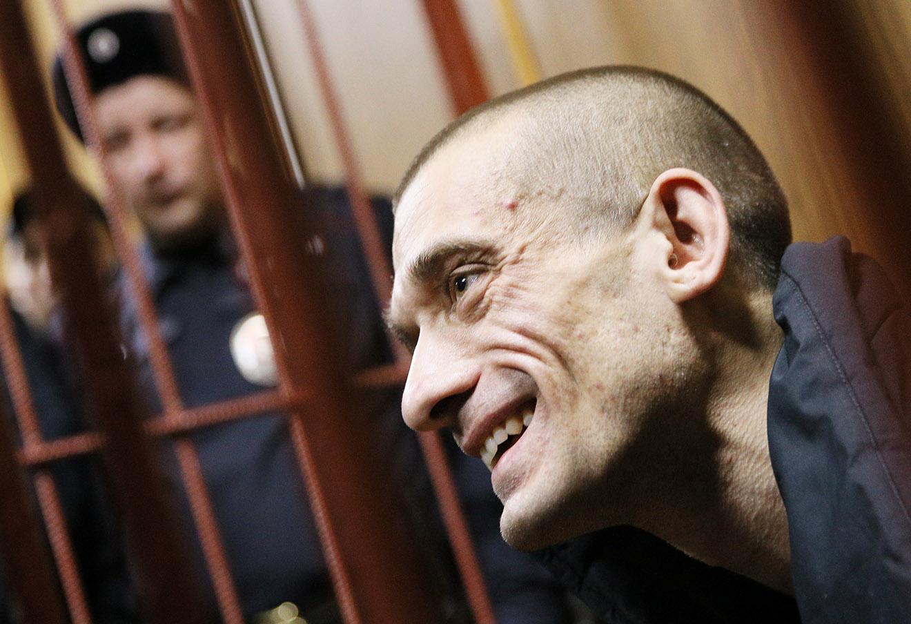 Петр Павленский в Таганском суде.