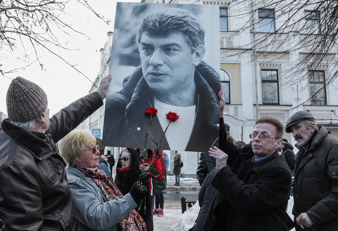 Марш памяти политика Бориса Немцова в Ярославле. Фото: Сергей Метелица / ТАСС