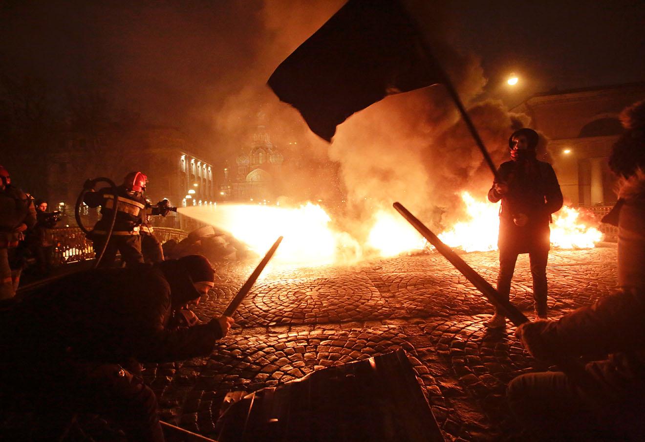 Акция «Свобода» в Санкт-Петербурге, 23 февраля 2014 года.