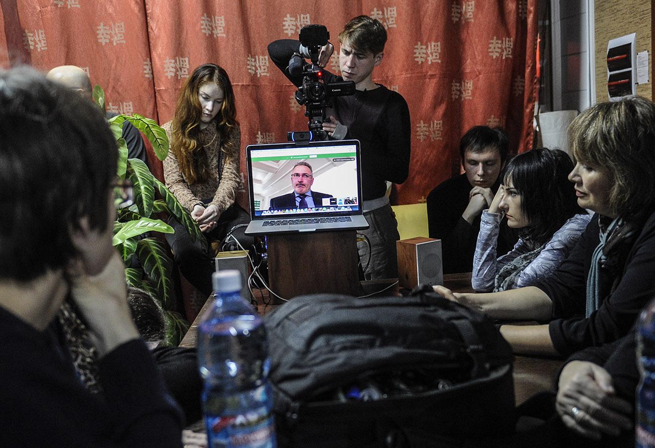 Онлайн-встреча Михаилом Ходорковским в Новосибирске, 24 марта 2015 года.