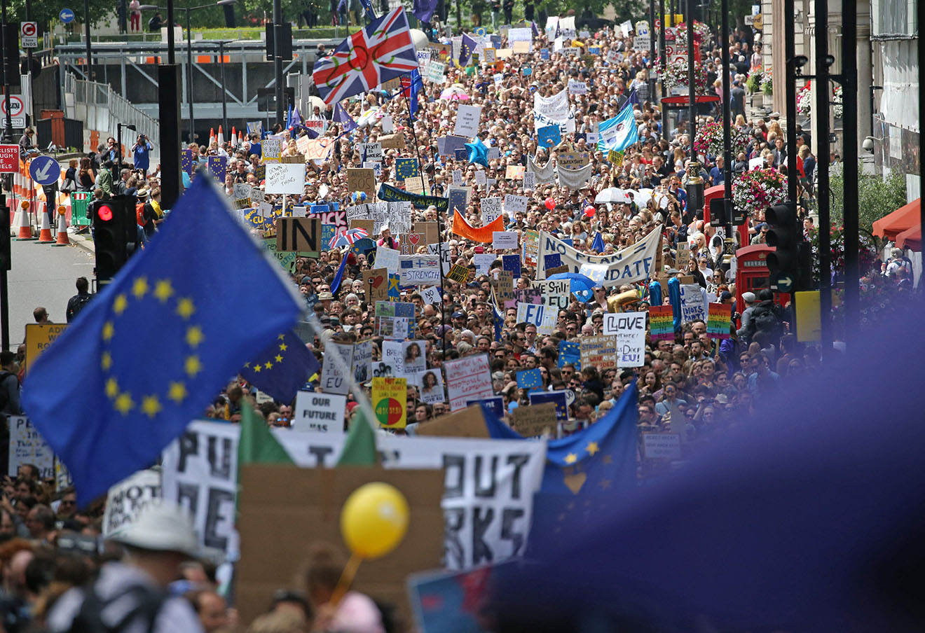 Акция в Лондоне против выхода Британии из ЕС.