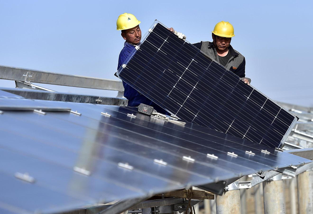 Солнечная электростанция в китайском Тяньцзине.