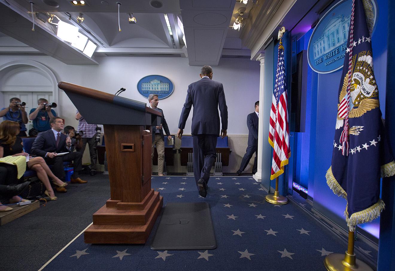 Барак Обама после пресс-конференции 12 июня 2016 года.