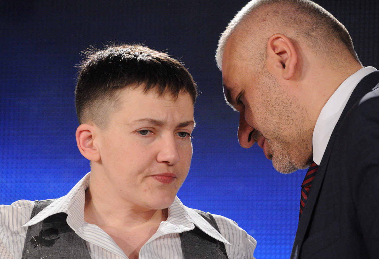 Надежда Савченко и Марк Фейгин. Фото: Петр Сивков / ТАСС