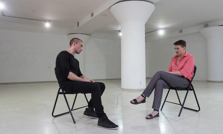 Надежда Савченко и Петр Павленский.