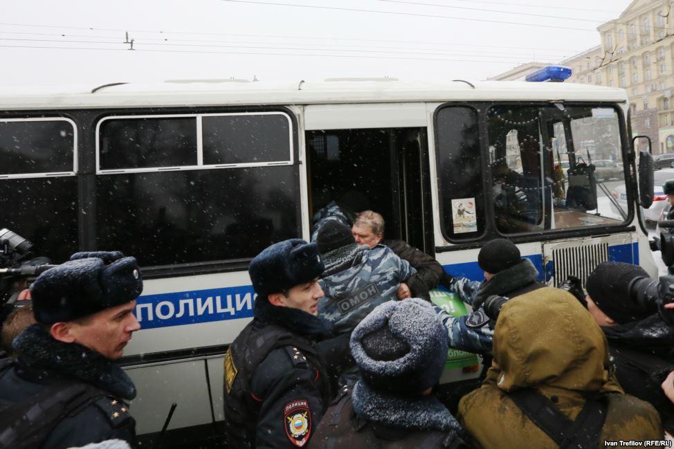 Задержание Сергея Митрохина.