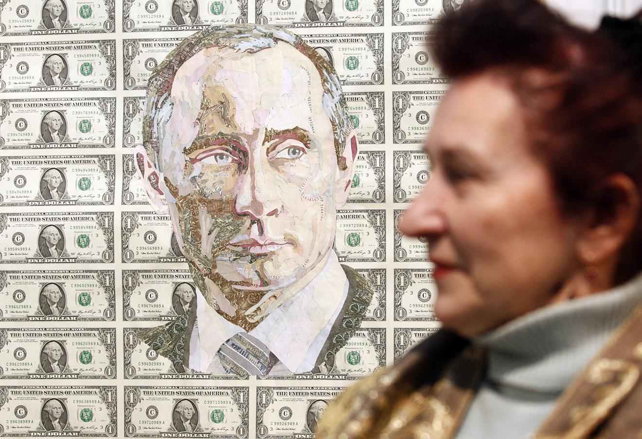 Работа украинского художника Руслана Кутнюка «Зима», Артэкспо Украина в Киеве.