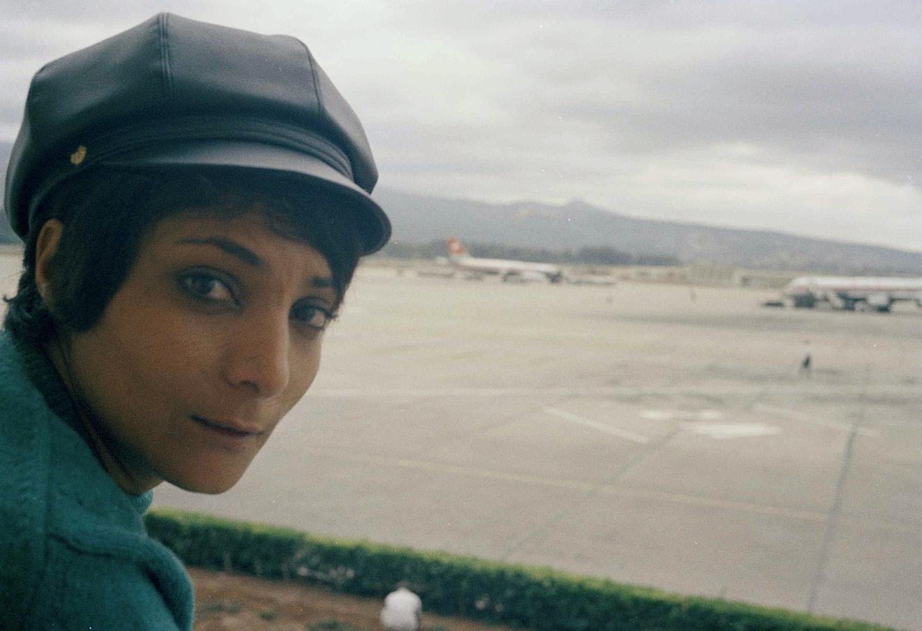 Лейла Халед в аэропорту Бейрута, 14 ноября 1970 года.