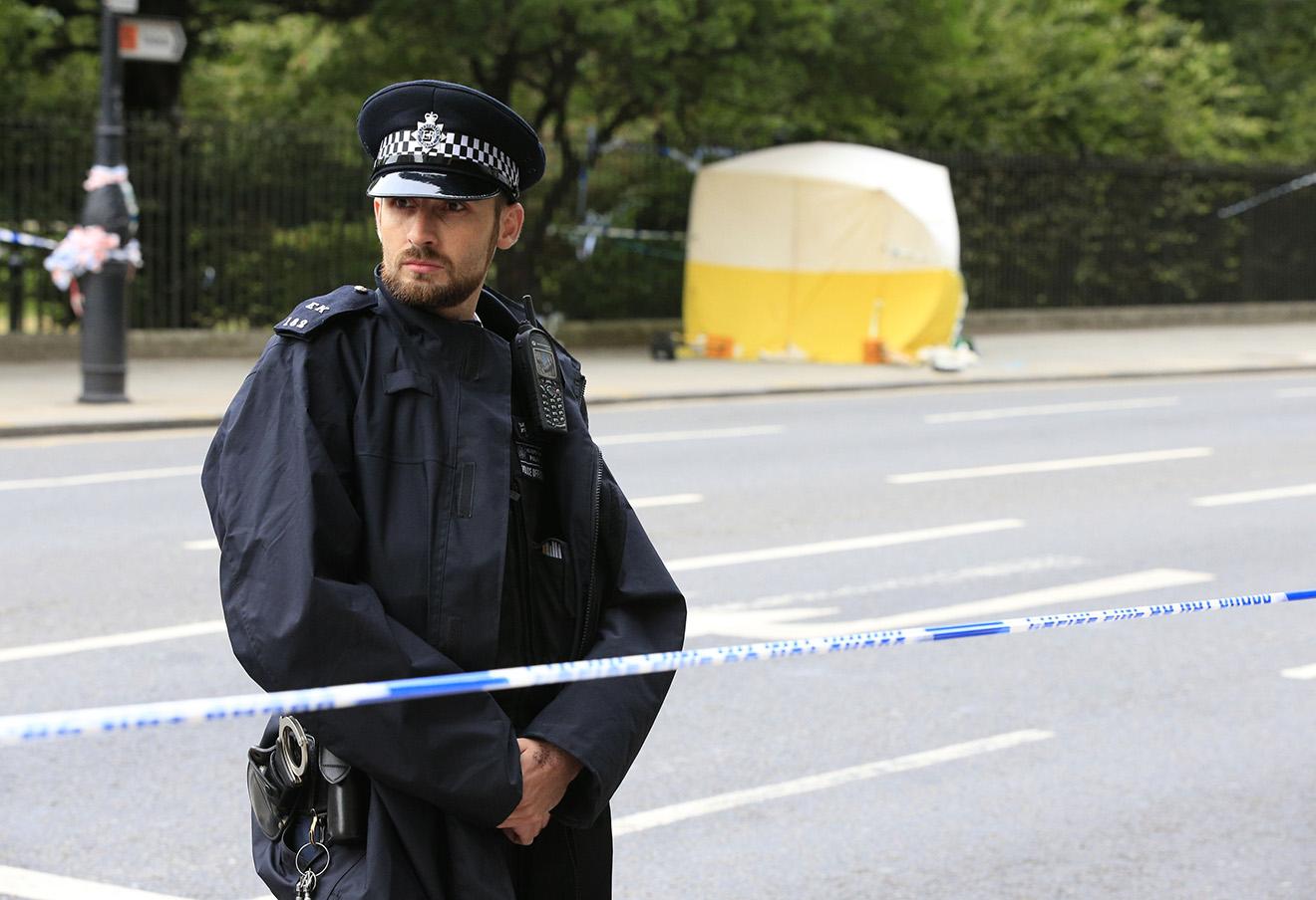 На месте нападения в Лондоне, 4 августа 2016 года. Фото: Jonathan Brady / Fa Bobo / PA / ТАСС